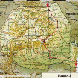 Wyprawa motocyklowa do Grecji - 2008 - mapa trasy przez Rumunię
