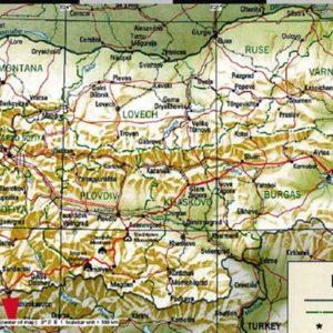 Wyprawa motocyklowa do Grecji - 2008 - mapa trasy przez Bułgarię