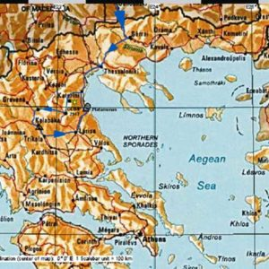 Wyprawa motocyklowa do Grecji - 2008 - mapa trasy przez Grecję