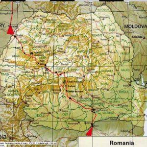 Wyprawa motocyklowa do Grecji - 2008 - mapa trasy przez Rumunię-powrót