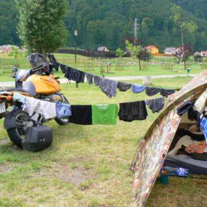 Wyprawa motocyklowa do Grecji - 2008 - Rumunia, kemping w Baszowie