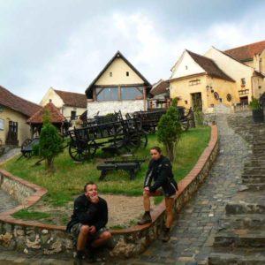 Wyprawa motocyklowa do Grecji - 2008 - Rumunia, zamek chłopski w Râșnov/Barcarozsnyó vára/Rosenauer Baurernburg/Cetatea Râșnov