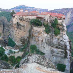 Wyprawa motocyklowa do Grecji - 2008 - Grecja, prawosławny klasztor w Meteorach/Μετέωρα/Meteora