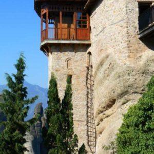 Wyprawa motocyklowa do Grecji - 2008 - Grecja, prawosławny klasztor w Meteorach/Μετέωρα/Meteora - dawne wejście do klasztoru
