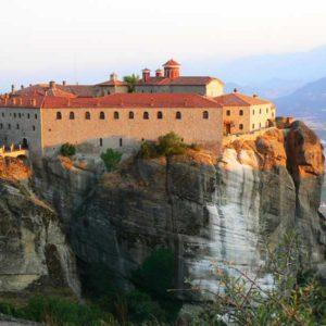 Wyprawa motocyklowa do Grecji - 2008 - Grecja, prawosławny klasztor w Meteory/Μετέωρα/Meteora