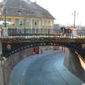 Wyprawa motocyklowa do Grecji - 2008 - Rumunia, most kłamców w Sibiu/Sybin