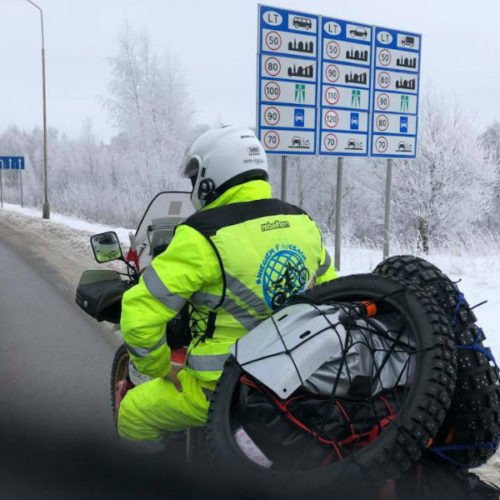 Nordkapp zimą - śniegiem po oczach 2018