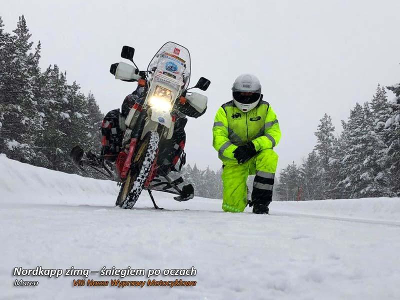 VIII Nasze Wyprawy Motocyklowe – Nordkapp zimą – śniegiem po oczach