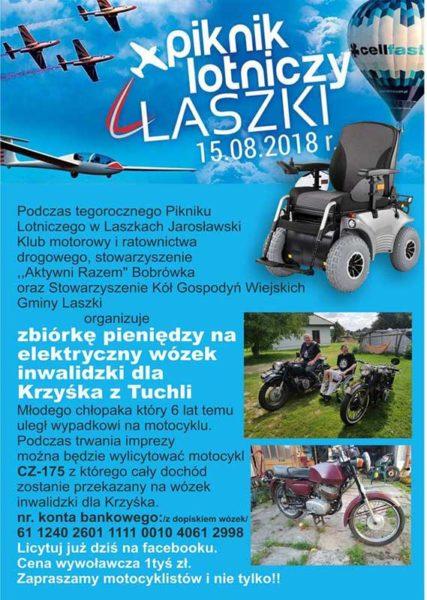 Charytatywnie dla Krzyśka podczas Pikniku Lotniczego w Laszkach