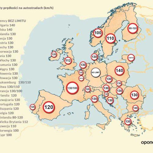 Autostrady UE oraz Strefy Schengen w pigułce - infografika