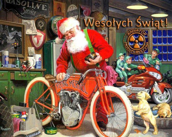 Wesołych Świąt Bożego Narodzenia Motocykliści