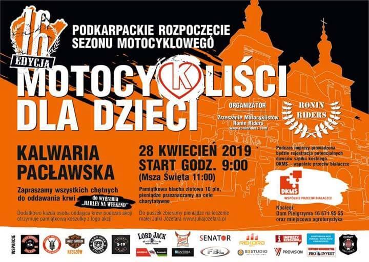 Podkarpackie Rozpoczęcie Sezonu Motocyklowego Kalwaria Pacławska 2019