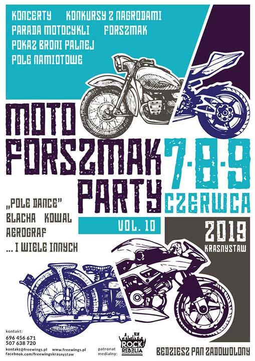 Plakat - MOTO FORSZMAK PARTY 2019 VOL. 10