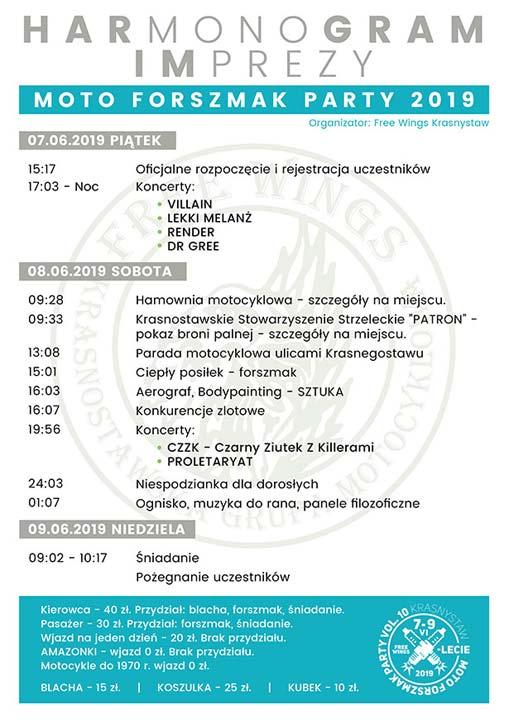 Program - MOTO FORSZMAK PARTY 2019 VOL. 10