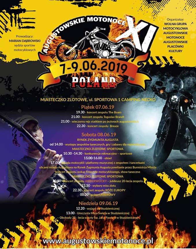 Plakat Augustowskie Motonoce 2019