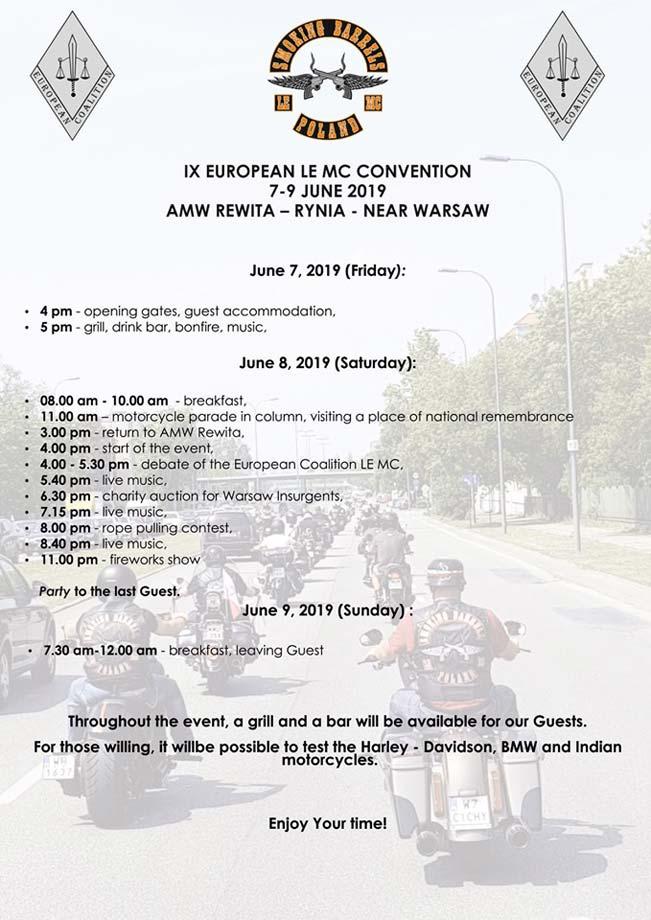 Program - Bike & Barrels Party 2019 Rynia