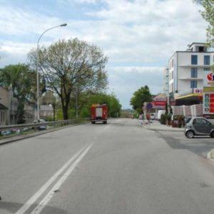 Wypadek motocyklisty w Jarosławiu