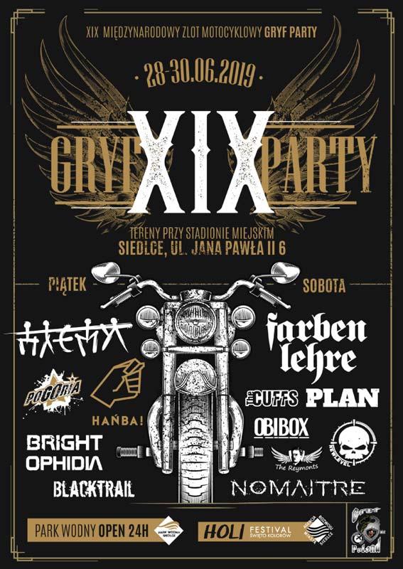 XIX GRYFPARTY SIEDLCE 2019 - plakat