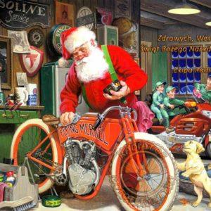 Kartka motocyklowa Boże Narodzenie 2019